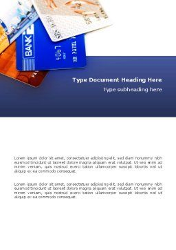 Credit Cards Word Template, Cover Page, 02877, Financial/Accounting — PoweredTemplate.com