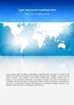 World Map Word Template, Cover Page, 02881, Global — PoweredTemplate.com