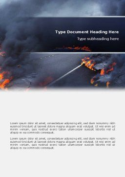Disaster Word Template, Cover Page, 02882, Nature & Environment — PoweredTemplate.com