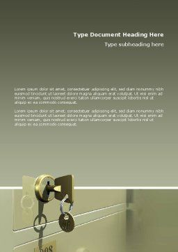 Locker Word Template, Cover Page, 02883, 3D — PoweredTemplate.com