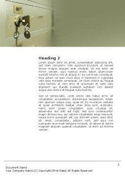 Locker Word Template, Second Inner Page, 02883, 3D — PoweredTemplate.com