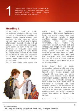 Bullying Word Template First Inner Page