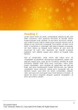 Decorations Of New Year Word Template, Second Inner Page, 02886, Holiday/Special Occasion — PoweredTemplate.com