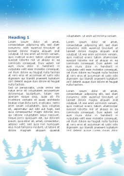 Forest Snow Word Template, First Inner Page, 02888, Holiday/Special Occasion — PoweredTemplate.com