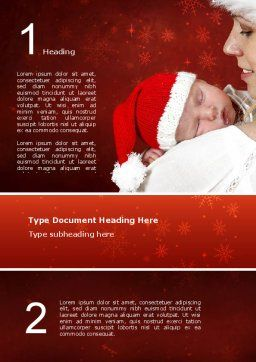 Free Christmas Child Word Template, Cover Page, 02890, People — PoweredTemplate.com