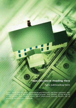 Mortgage On The House Word Template Cover Page