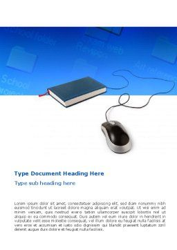 Internet Libraries Word Template, Cover Page, 02894, Education & Training — PoweredTemplate.com
