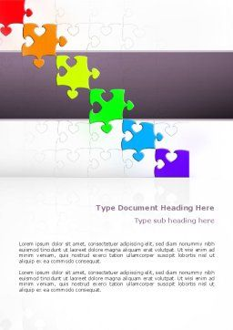 Fancy Jigsaw Word Template, Cover Page, 02895, Business Concepts — PoweredTemplate.com