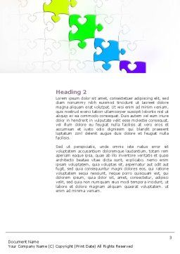 Fancy Jigsaw Word Template, Second Inner Page, 02895, Business Concepts — PoweredTemplate.com