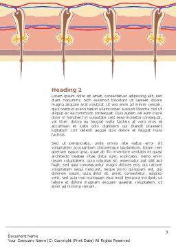 Skin Word Template, Second Inner Page, 02897, Medical — PoweredTemplate.com