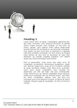 World Time Word Template, Second Inner Page, 02898, Business Concepts — PoweredTemplate.com