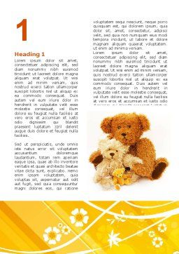 Teddy Bear Word Template, First Inner Page, 02901, Holiday/Special Occasion — PoweredTemplate.com
