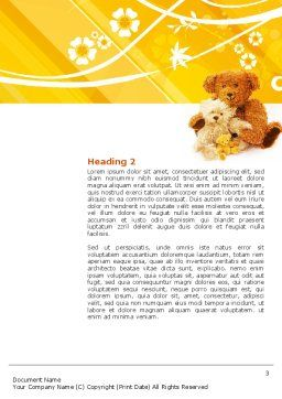 Teddy Bear Word Template, Second Inner Page, 02901, Holiday/Special Occasion — PoweredTemplate.com
