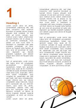 Basketball Word Template, First Inner Page, 02904, Sports — PoweredTemplate.com