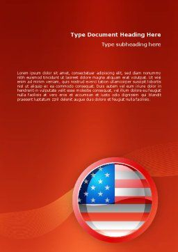 US Flag Word Template Cover Page
