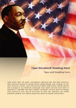 Martin Luther King Word Template, Cover Page, 02907, Holiday/Special Occasion — PoweredTemplate.com