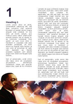 Martin Luther King Word Template, First Inner Page, 02907, Holiday/Special Occasion — PoweredTemplate.com