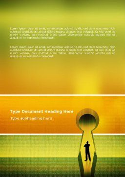 Digital Fortress Word Template, Cover Page, 02910, Business Concepts — PoweredTemplate.com