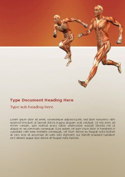 Muscular System Word Template, Cover Page, 02911, Medical — PoweredTemplate.com