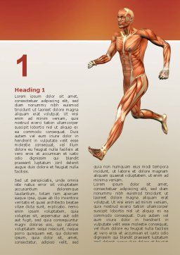Muscular System Word Template, First Inner Page, 02911, Medical — PoweredTemplate.com
