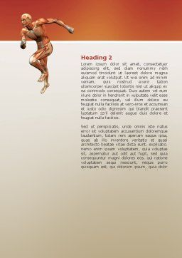 Muscular System Word Template, Second Inner Page, 02911, Medical — PoweredTemplate.com