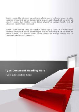 Red Carpet Word Template Cover Page