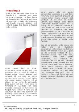Red Carpet Word Template Second Inner Page