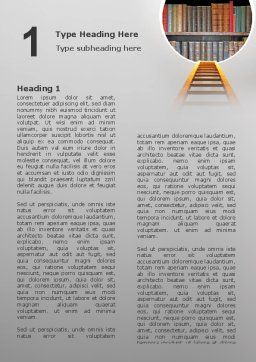Road to Knowledge Word Template, First Inner Page, 02917, Education & Training — PoweredTemplate.com