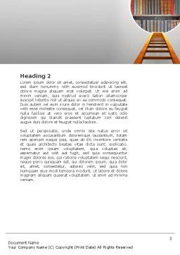 Road to Knowledge Word Template, Second Inner Page, 02917, Education & Training — PoweredTemplate.com