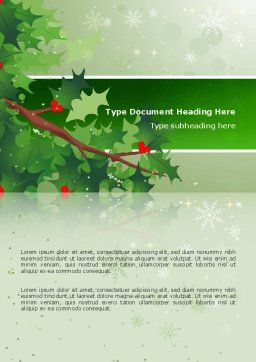 Hemlock Word Template, Cover Page, 02919, Holiday/Special Occasion — PoweredTemplate.com