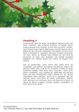 Hemlock Word Template, Second Inner Page, 02919, Holiday/Special Occasion — PoweredTemplate.com