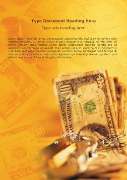 Safe Property Word Template, Cover Page, 02924, Financial/Accounting — PoweredTemplate.com