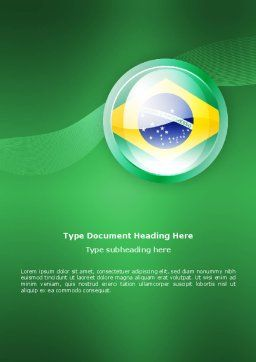 Brazil Sign Word Template, Cover Page, 02926, Flags/International — PoweredTemplate.com