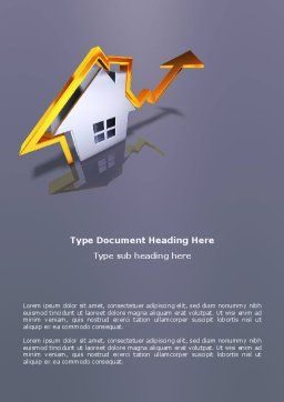 Real Estate Rate Word Template, Cover Page, 02929, Careers/Industry — PoweredTemplate.com