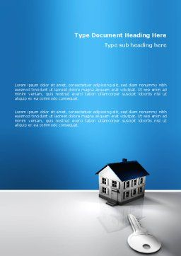 Real Estate Property Word Template, Cover Page, 02932, Business — PoweredTemplate.com
