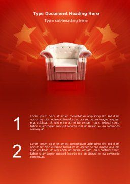Comfort Chair Word Template, Cover Page, 02933, Careers/Industry — PoweredTemplate.com