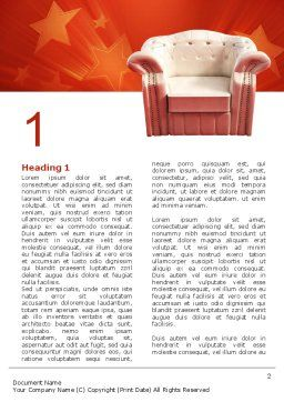 Comfort Chair Word Template, First Inner Page, 02933, Careers/Industry — PoweredTemplate.com