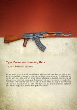 Kalashnikov Word Template, Cover Page, 02934, Military — PoweredTemplate.com