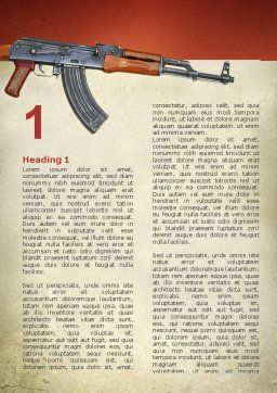 Kalashnikov Word Template, First Inner Page, 02934, Military — PoweredTemplate.com