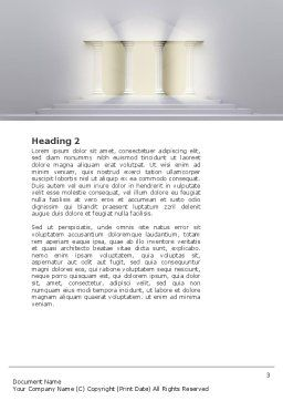 Portico Word Template, Second Inner Page, 02936, Construction — PoweredTemplate.com