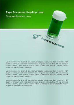 Hormones Word Template, Cover Page, 02937, Medical — PoweredTemplate.com