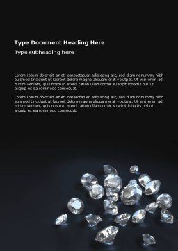 Diamonds Word Template, Cover Page, 02938, Careers/Industry — PoweredTemplate.com