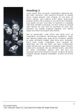 Diamonds Word Template, Second Inner Page, 02938, Careers/Industry — PoweredTemplate.com