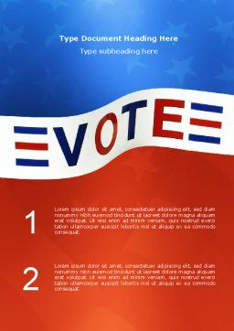 Vote Word Template, Cover Page, 02942, Consulting — PoweredTemplate.com