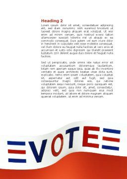 Vote Word Template, Second Inner Page, 02942, Consulting — PoweredTemplate.com