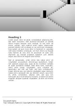 Open Doors And Stairwells Word Template, Second Inner Page, 02943, Business Concepts — PoweredTemplate.com