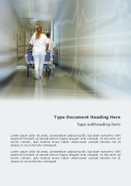 Resuscitation Department Word Template, Cover Page, 02944, Medical — PoweredTemplate.com