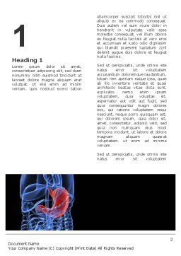 Stomach Word Template, First Inner Page, 02949, Medical — PoweredTemplate.com
