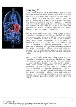 Stomach Word Template, Second Inner Page, 02949, Medical — PoweredTemplate.com