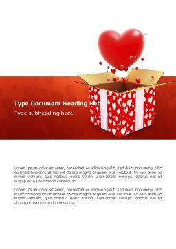 Free Love Present Word Template, Cover Page, 02950, Holiday/Special Occasion — PoweredTemplate.com